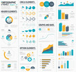 Large infographic vector elements template designers collection - 66997039