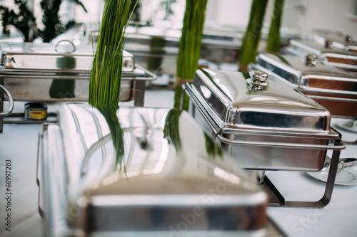 Many buffet heated trays - 66997203