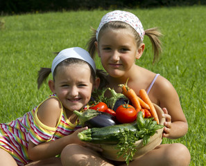 Children and Vegetables