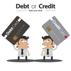Debt or Credit : Battle of Plastic Card