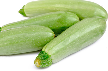 vegetable marrows on a white background