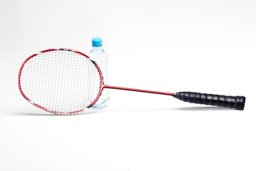 Sport racket on white background