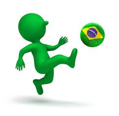 Männchen mit Brasilien-Ball