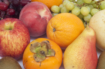 Colorful fresh and ripe fruits.