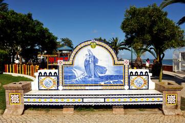 Portuguese tile, Olhao, Algarve, Portugal