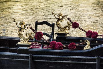 Detail of typical venitian gondola
