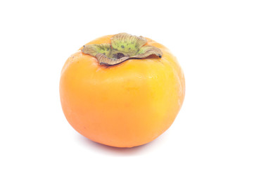 Fresh persimmon isolated on white background.