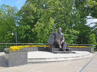 Monument to the actor Vladimir Vysotsky in Kaliningrad