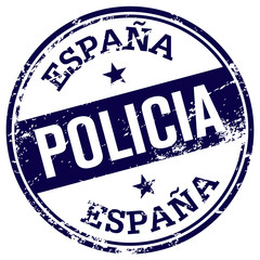 spanish police rubber stamp