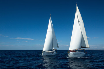 Sailing. Luxury Yachts.