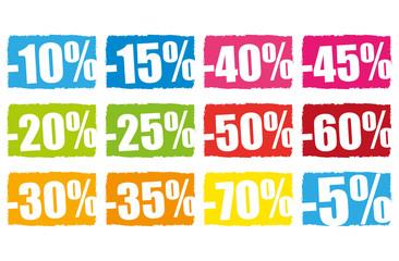 Pourcentages soldes