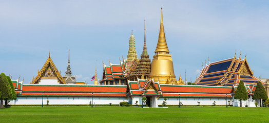 Grand Palace and Temple of Emerald Buddha complex in Bangkok, Th
