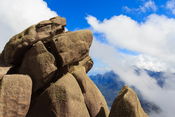 Peak prateleiras mountain  in Itatiaia National Park, Brazil
