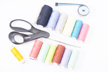 sewing supplies on the table