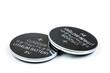 Leinwanddruck Bild - Lithium button cell battery isolated on white