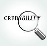 Vector credibility theme illustration poster