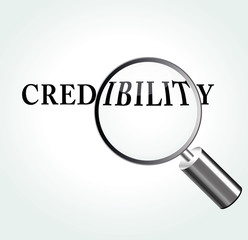 Vector credibility theme illustration