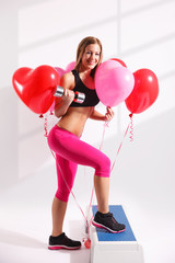 Beautiful young woman loves to work out
