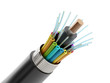 canvas print picture - Fiber optical cable detail