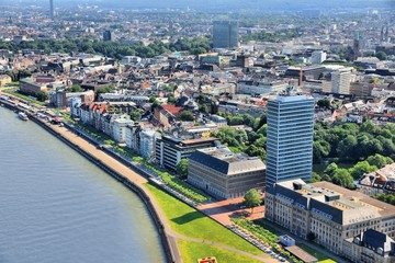 Dusseldorf aerial view in Germany
