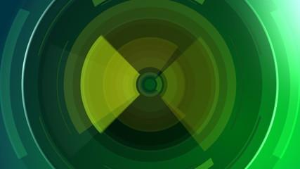 зелённые  круги
