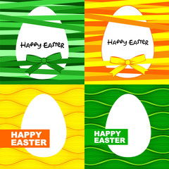 Easter eggs card set.