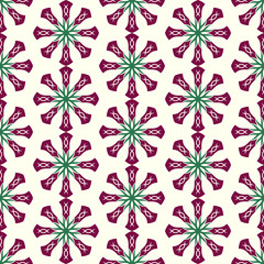Dark Red Roots or Tribal Pattern on Pastel Background