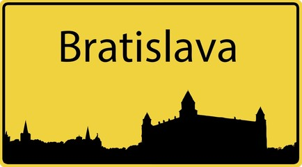 Ortsschild Bratislava