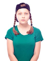 Teen girl in cap
