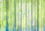 Fototapeta old wooden wall, green background