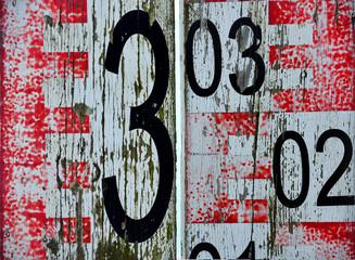 Background old wood table measured in meters