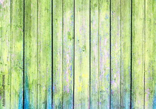 Tuinposter Hout old wooden wall, green background