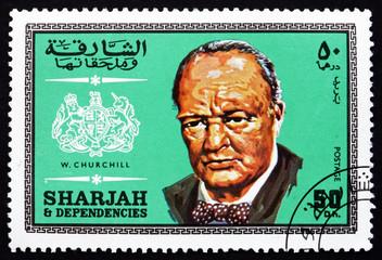 Postage stamp Spain 1969 Winston Churchill, British Politician