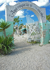 Tropical Cemetery Entrance
