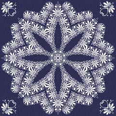 vector vintage elegant lace ornament snowflake