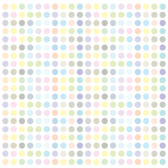 Color dot seamless repeat pattern.