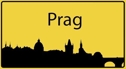 Ortsschild Prag