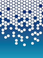 Abstract Hexagon Vector Background