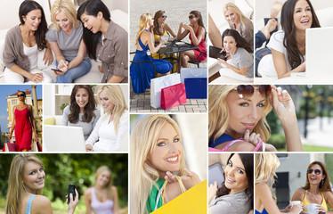 Female Women Modern Lifestyle Montage