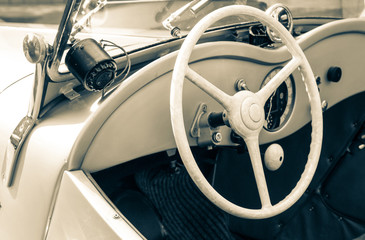Detail of a veteran car