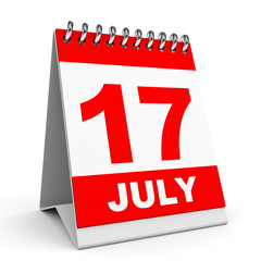 Calendar. 17 July.