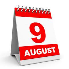 Calendar. 9 August.