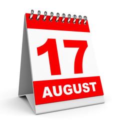 Calendar. 17 August.