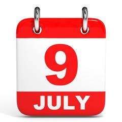 Calendar. 9 July.