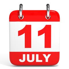 Calendar. 11 July.