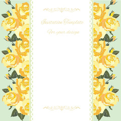 decorative border .Floral design.