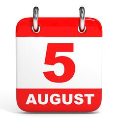 Calendar. 5 August.