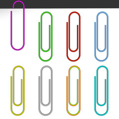 Colored paper clips.