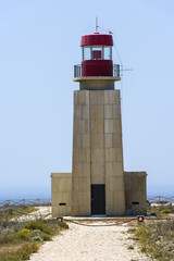 Light house of Fortaleza de Sagres in Portugal