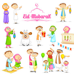 Muslim people celebrating Eid
